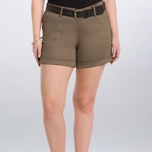 Brown Sateen Shorts